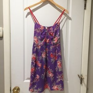 Beautiful Purple and Rose Floral Dress from Target